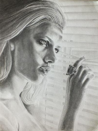 Scarlett Johansson par gomme